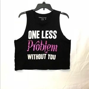 """Ariana """"quote"""" cropped tank"""